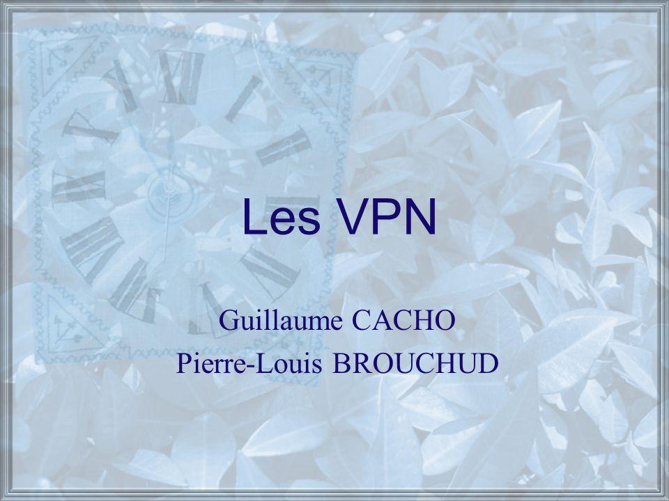 Les VPN Guillaume CACHO Pierre-Louis BROUCHUD