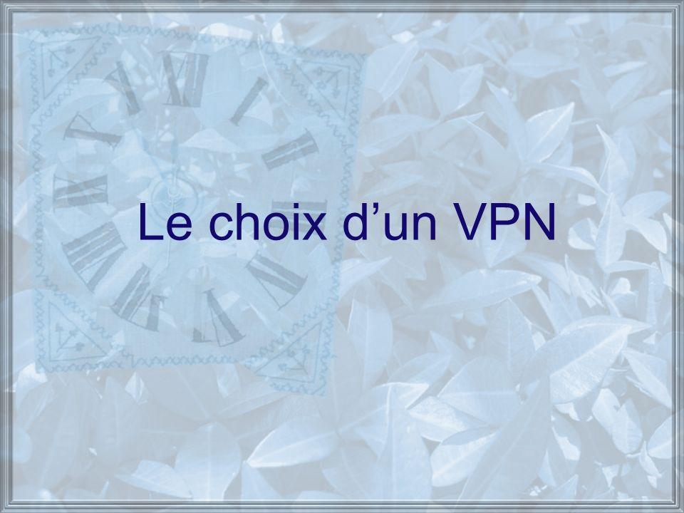 Le choix dun VPN