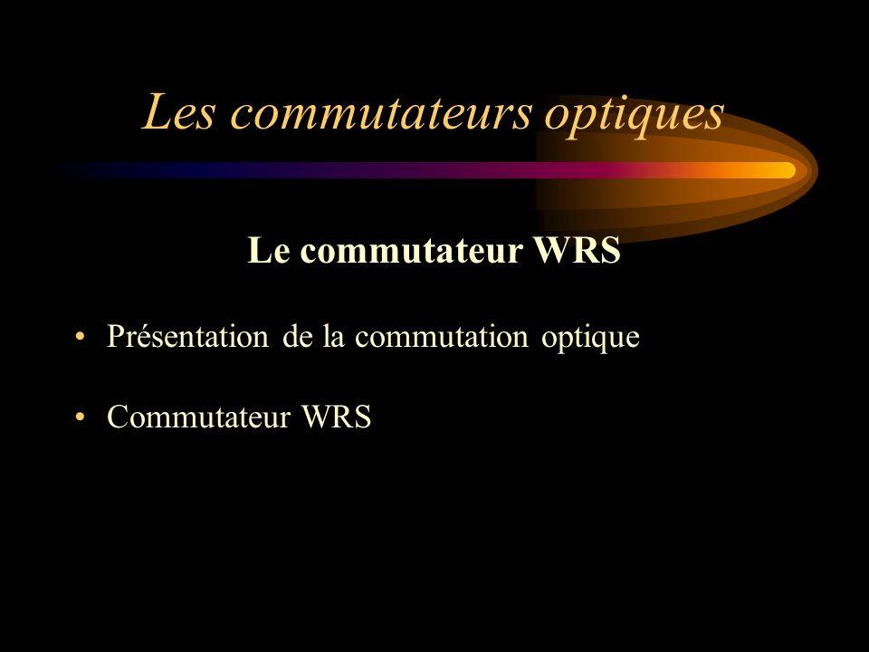 Les commutateurs optiques Le commutateur WRS Présentation de la commutation optique Commutateur WRS