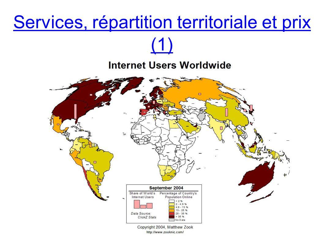 Services, répartition territoriale et prix (1)