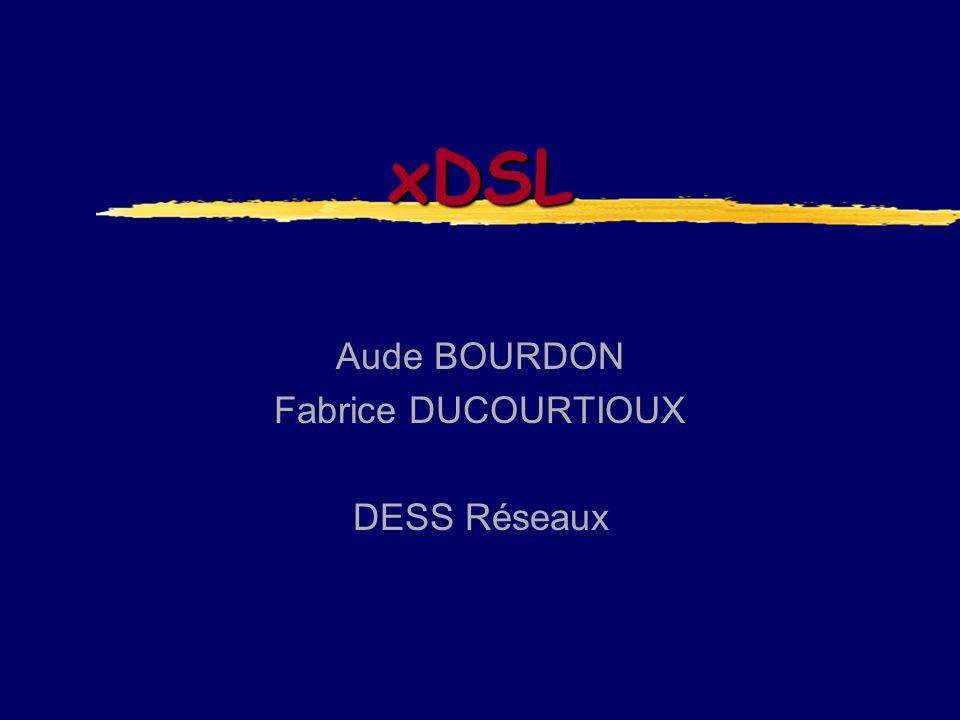 xDSL Aude BOURDON Fabrice DUCOURTIOUX DESS Réseaux