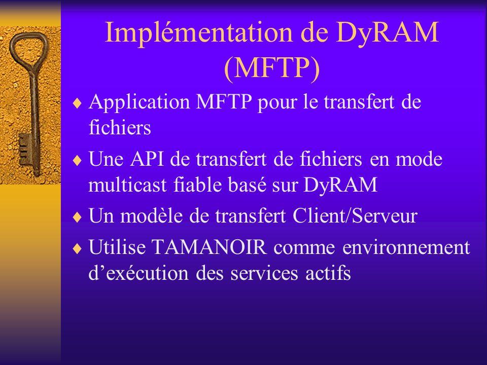 Conclusion et perspectives Le tunneling réduit les performances du transfert (surcharge des paquets IP) Activer le routage multicast sur les routeurs de sortie Utiliser un routage PIM au lieu dun routage DVMRP sur les routeurs actifs