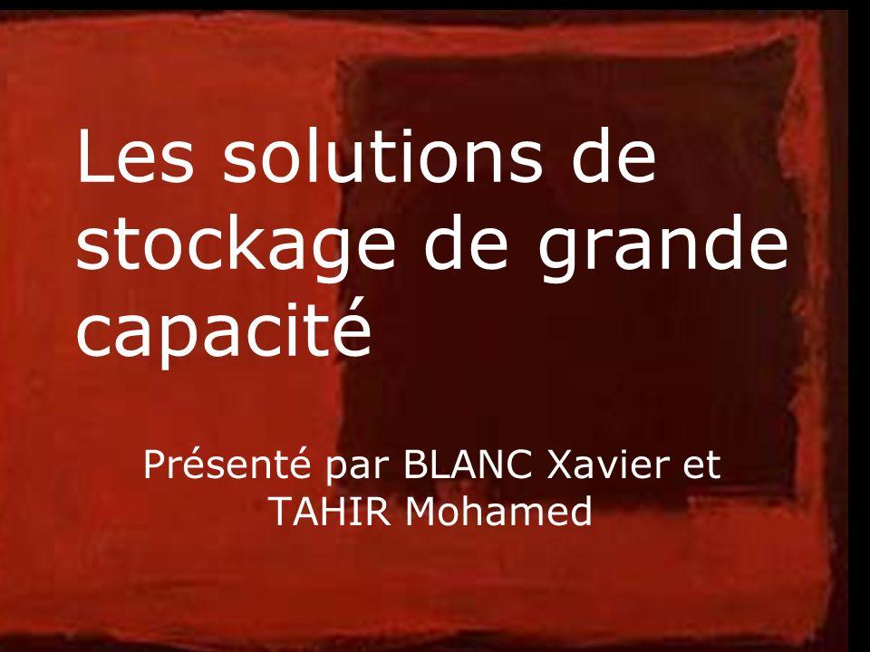 1 Les solutions de stockage de grande capacité Présenté par BLANC Xavier et TAHIR Mohamed
