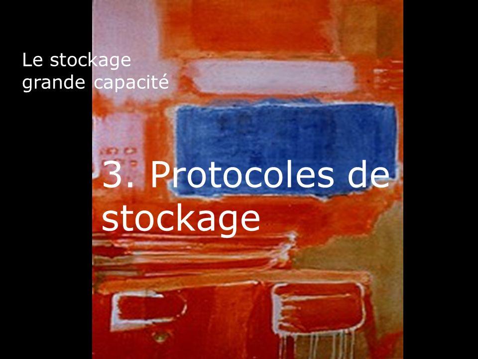 24 Le stockage grande capacité 3. Protocoles de stockage