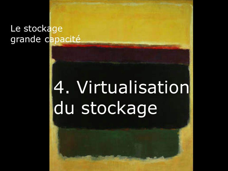 33 Le stockage grande capacité 4. Virtualisation du stockage