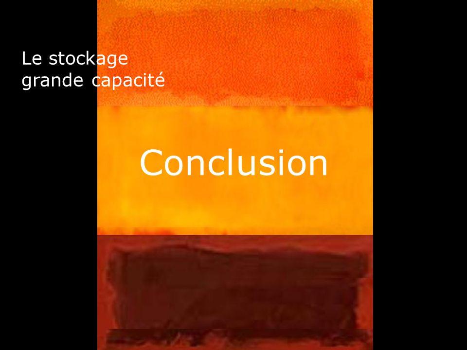 45 Conclusion Le stockage grande capacité