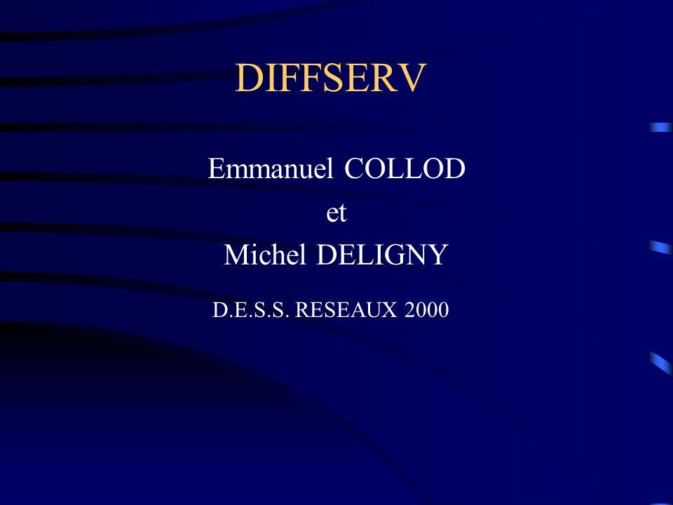 DIFFSERV Emmanuel COLLOD et Michel DELIGNY D.E.S.S. RESEAUX 2000