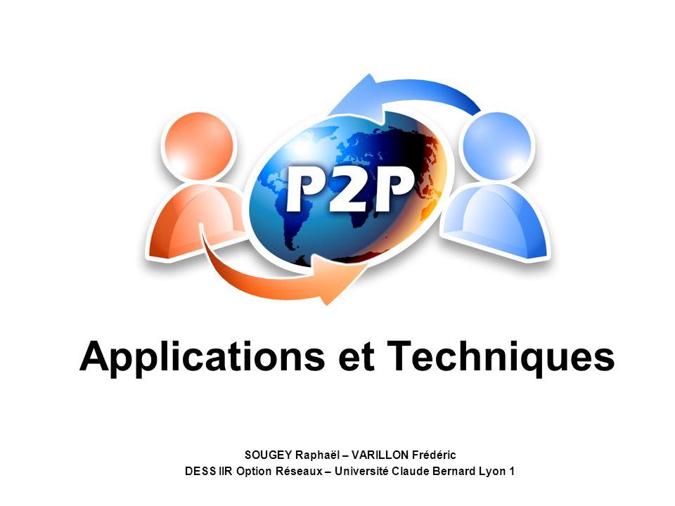 2 Plan Introduction Principe de fonctionnement Les applications Exemple : FreeNet Les difficultés