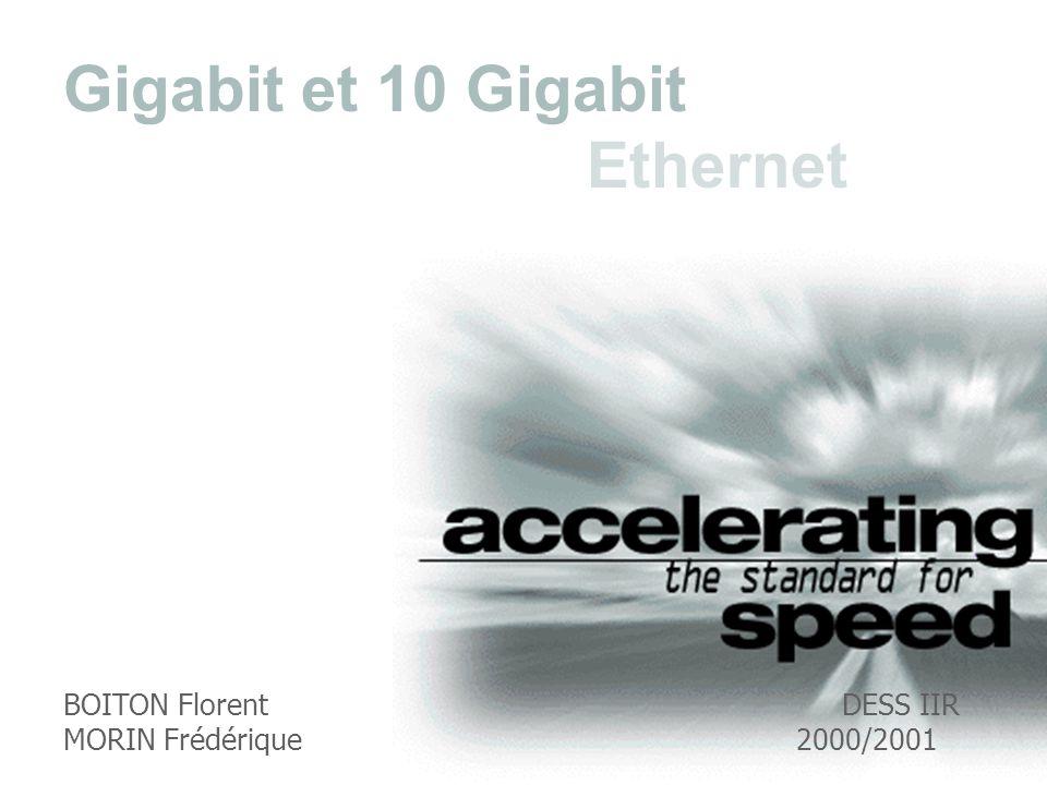 BOITON Florent DESS IIR MORIN Frédérique2000/2001 Gigabit et 10 Gigabit Ethernet