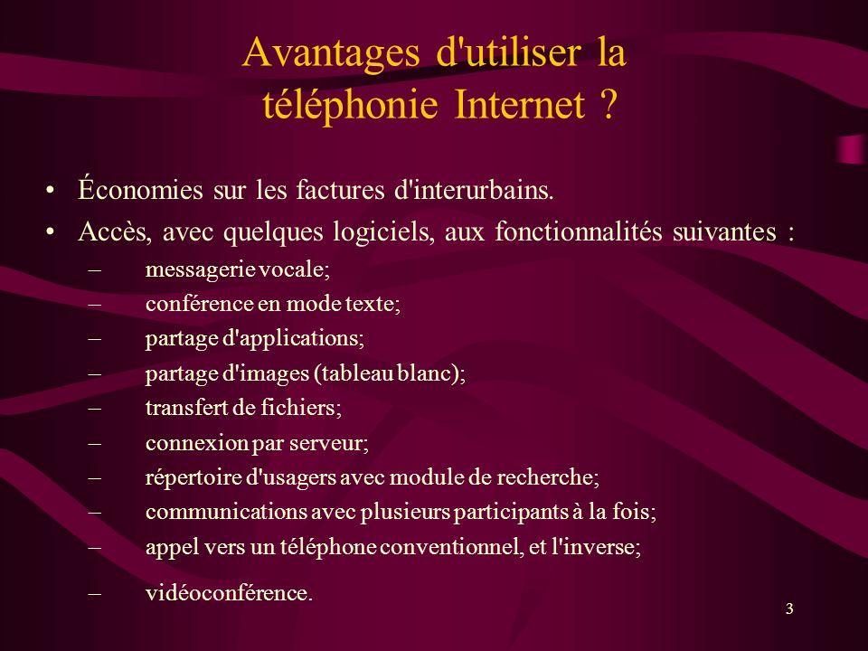 3 Avantages d utiliser la téléphonie Internet .Économies sur les factures d interurbains.