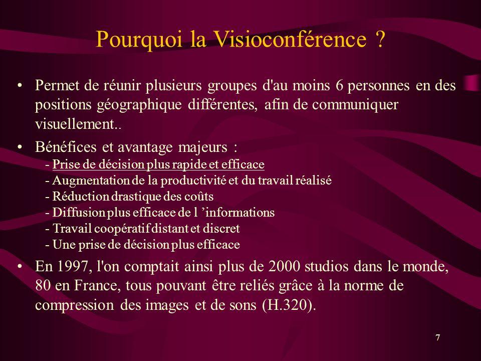 7 Pourquoi la Visioconférence .
