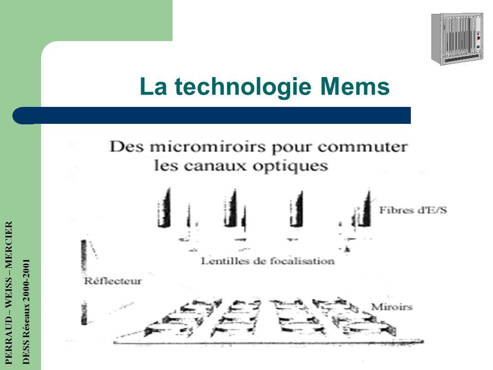 Les gigarouteurs optiques + Meilleures performances + Uniformisation avec les réseaux + flexibilité - Pas tout à fait au point… PERRAUD – WEISS – MERC