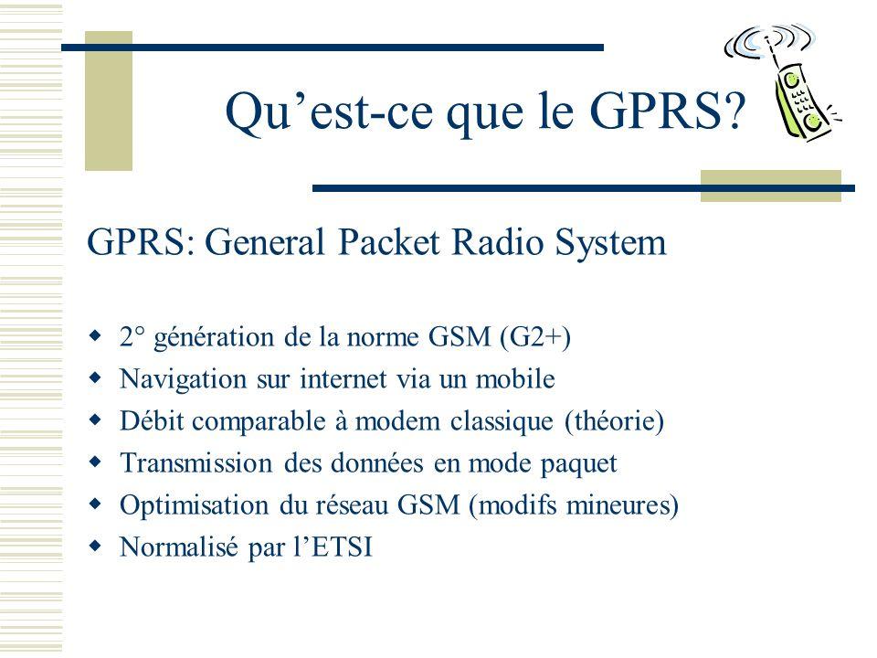 Quest-ce que le GPRS.