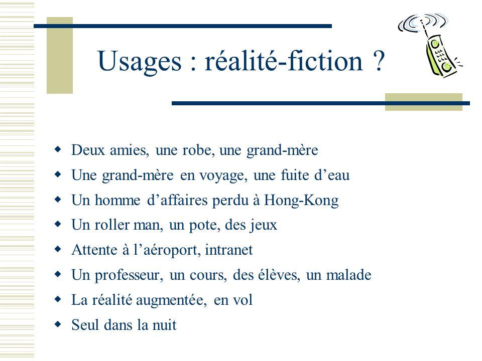 Usages : réalité-fiction .