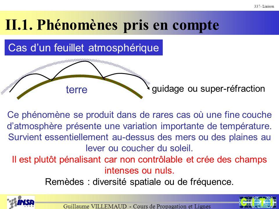 Guillaume VILLEMAUD - Cours de Propagation et Lignes 337- Liaison II.1.