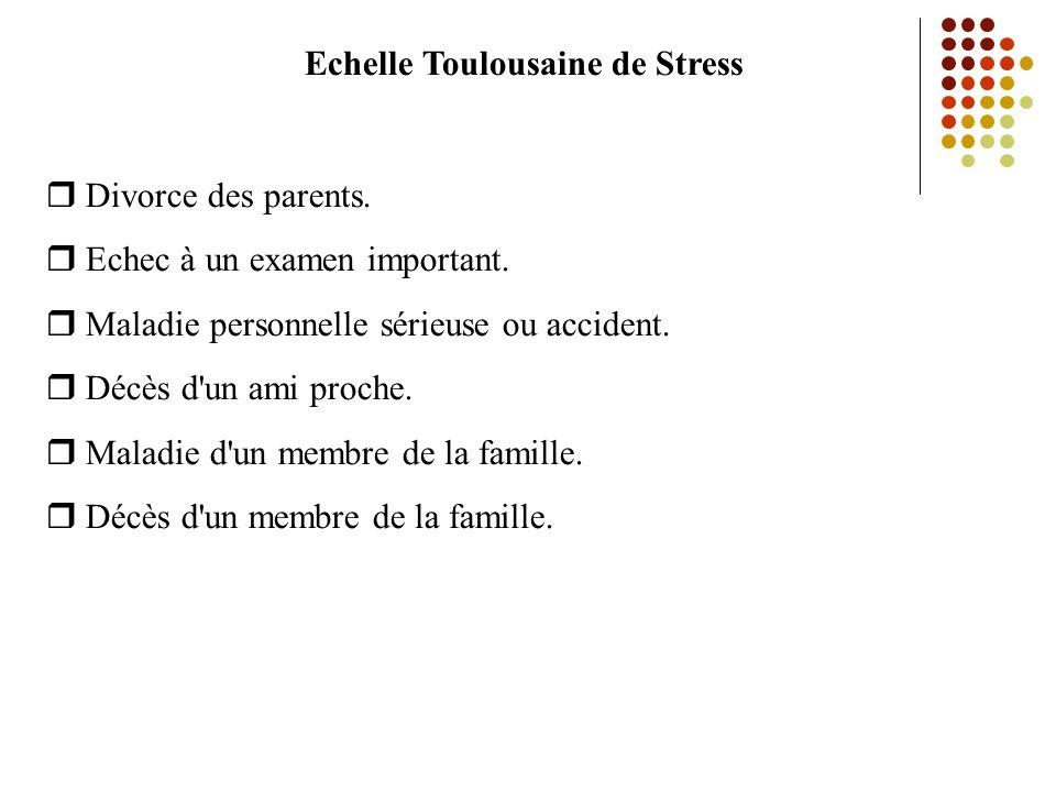 Echelle Toulousaine de Stress Divorce des parents.