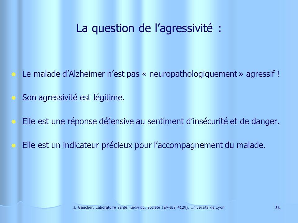 J. Gaucher, Laboratoire Santé, Individu, Société (EA-SIS 4129), Université de Lyon 10 Quelles sont les manifestations de cette angoisse ? 1. La perte