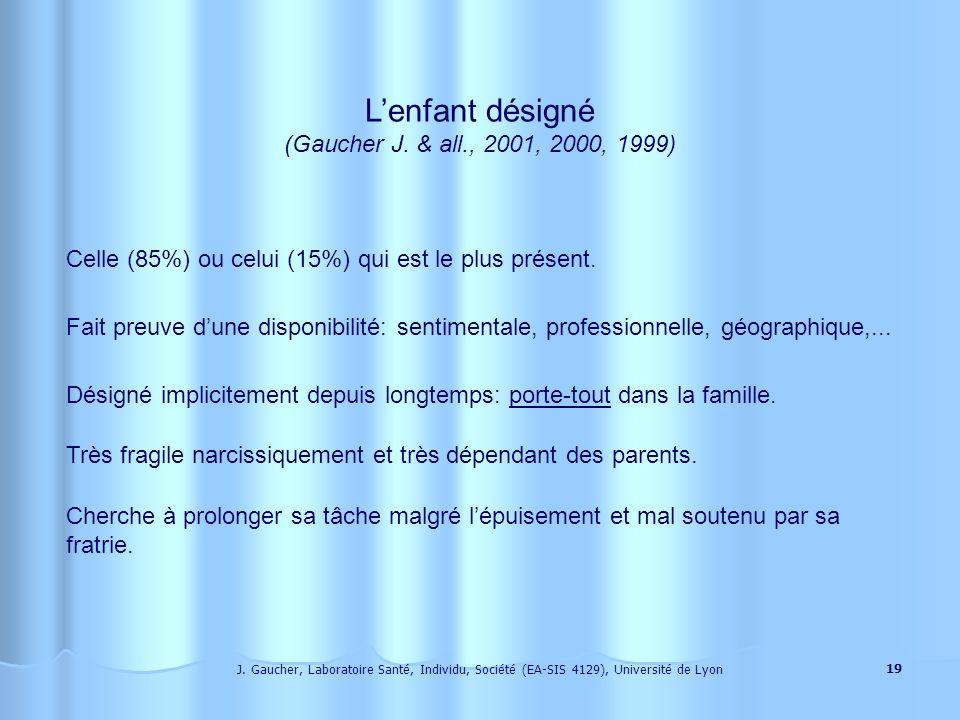 J. Gaucher, Laboratoire Santé, Individu, Société (EA-SIS 4129), Université de Lyon 18 Laide à domicile, chez une personne âgée, suppose la présence du
