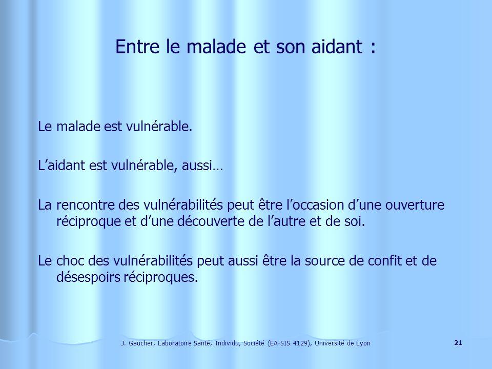 J. Gaucher, Laboratoire Santé, Individu, Société (EA-SIS 4129), Université de Lyon 20 Sa disponibilité peut-être comprise comme conjoncturelle ou comm