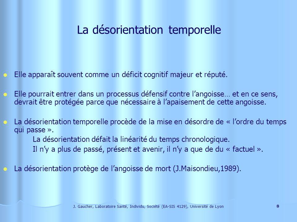 J. Gaucher, Laboratoire Santé, Individu, Société (EA-SIS 4129), Université de Lyon 7 La fugue est un comportement intentionnel qui nest pas propre à c