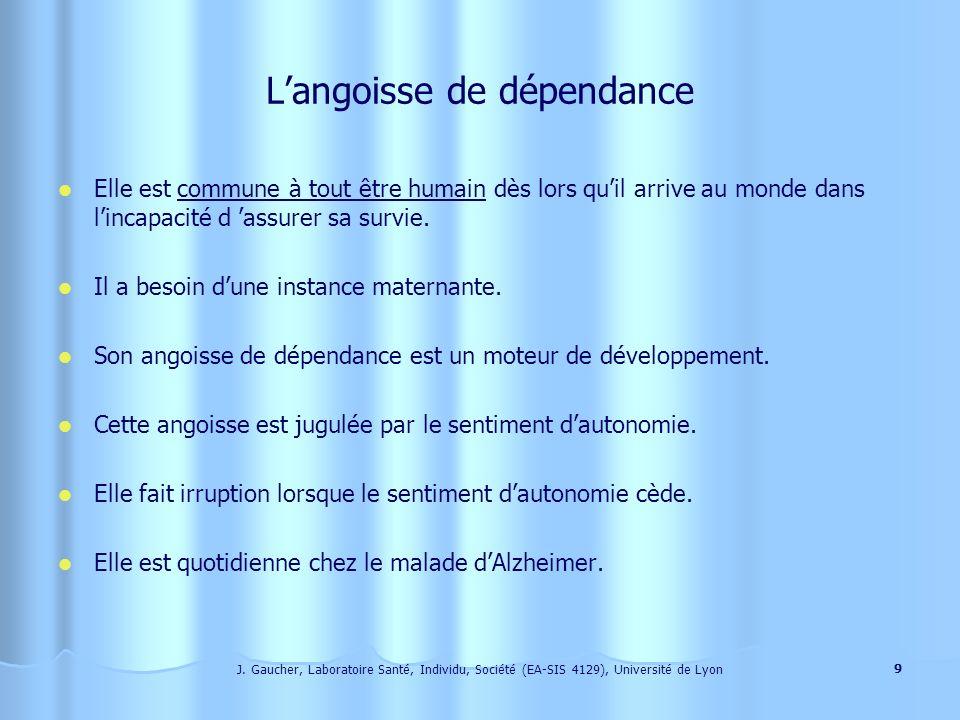 J. Gaucher, Laboratoire Santé, Individu, Société (EA-SIS 4129), Université de Lyon 8 La désorientation temporelle Elle apparaît souvent comme un défic