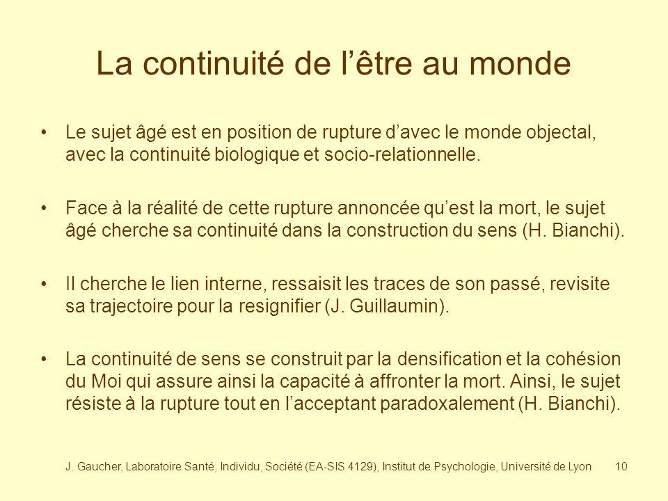 J. Gaucher, Laboratoire Santé, Individu, Société (EA-SIS 4129), Institut de Psychologie, Université de Lyon9 Jeune La mort Senior Contenus traumatique