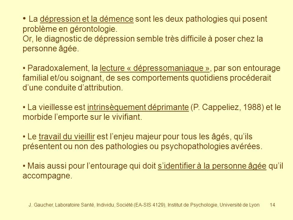J. Gaucher, Laboratoire Santé, Individu, Société (EA-SIS 4129), Institut de Psychologie, Université de Lyon13 Retournement de linvestissement objectal