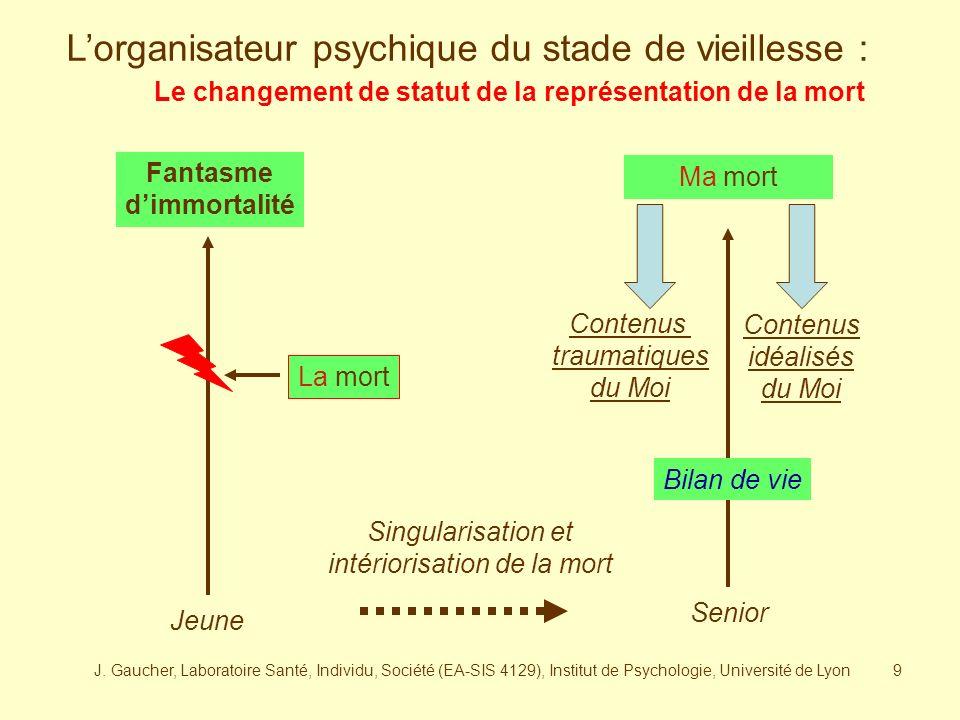 J. Gaucher, Laboratoire Santé, Individu, Société (EA-SIS 4129), Institut de Psychologie, Université de Lyon8 Préalablement, une lecture psychodynamiqu