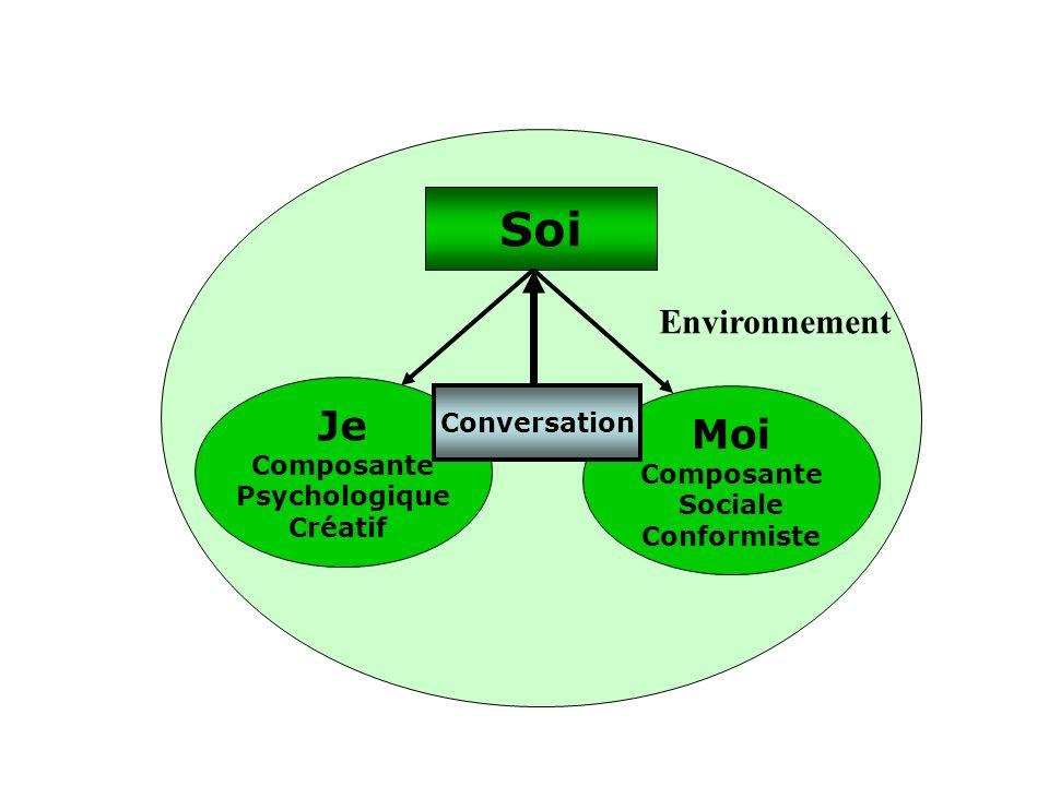 Je Composante Psychologique Créatif Moi Composante Sociale Conformiste Conversation Soi Environnement