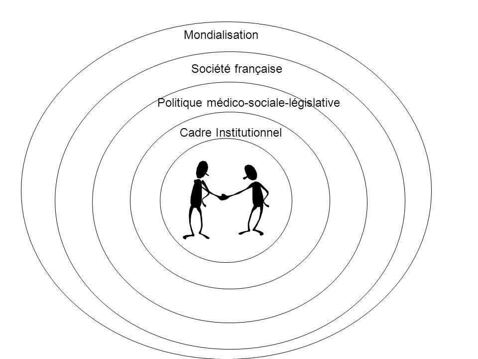Cadre Institutionnel Politique médico-sociale-législative Société française Mondialisation