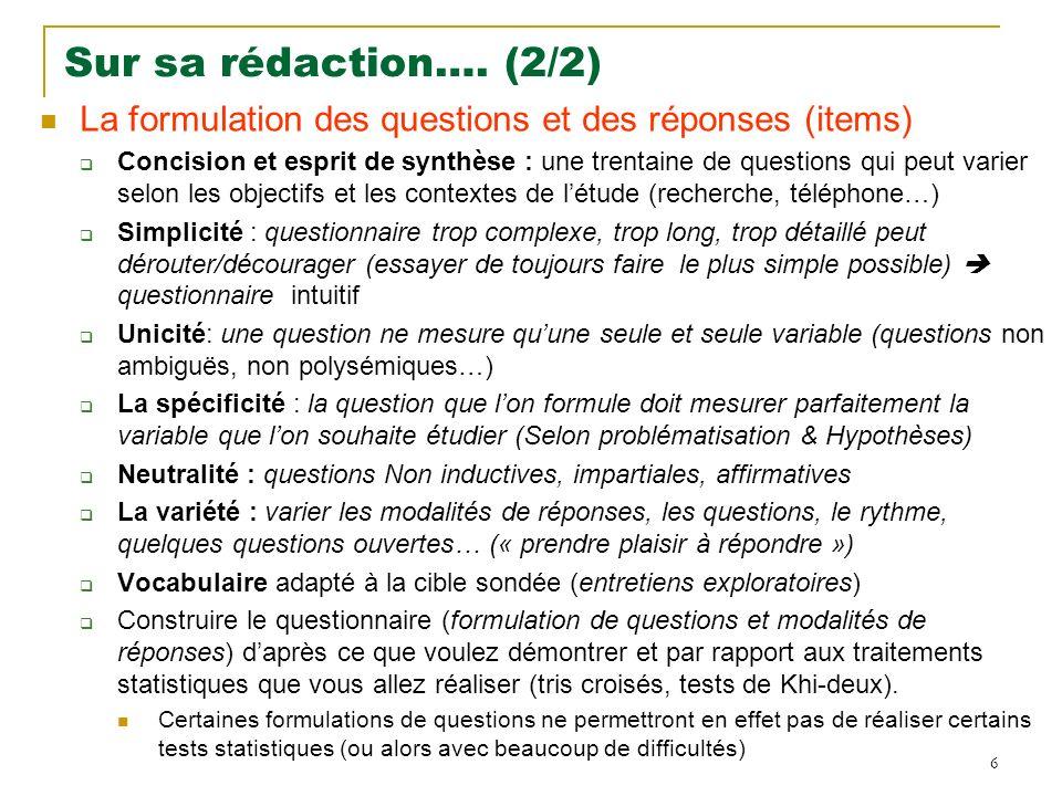 17 Diverses représentations graphiques possibles Camembert / Secteur Barres Profils Anneaux Donuts Histogramme