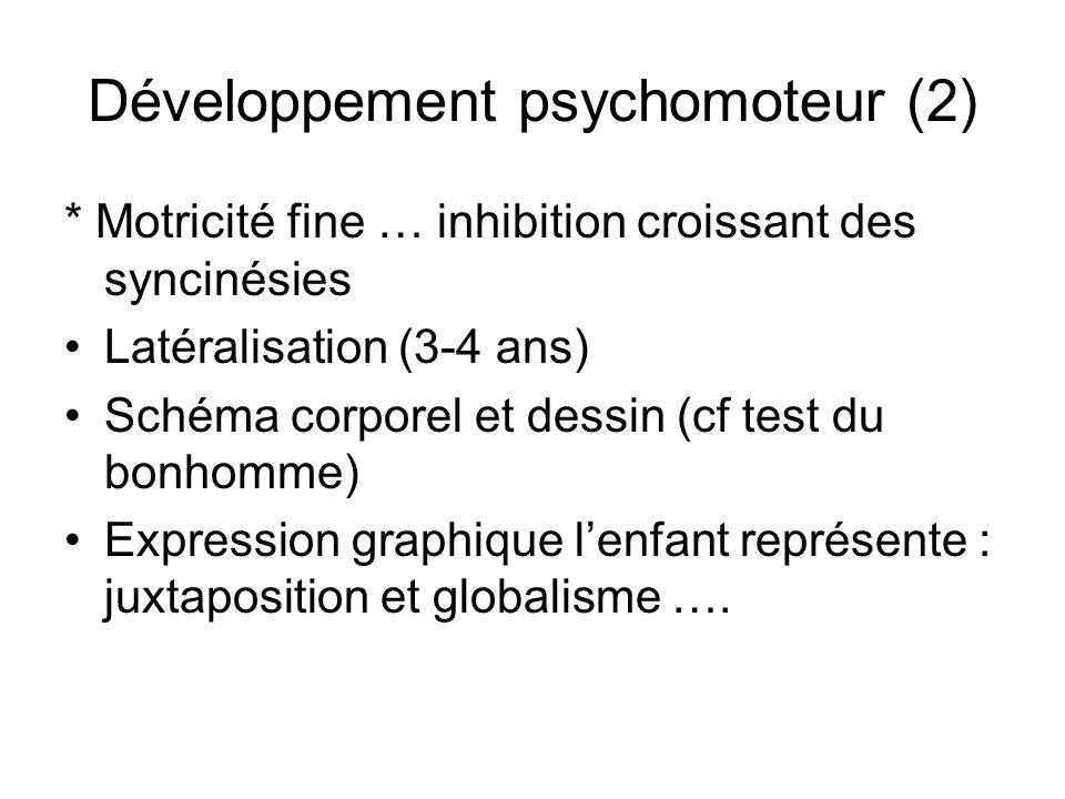 Développement psychomoteur Le jeu (classification de Buhler) - jeu fonctionnel jusquà 3 ans (fonctions sensori motrices, remplir, jeter, manipuler ) -