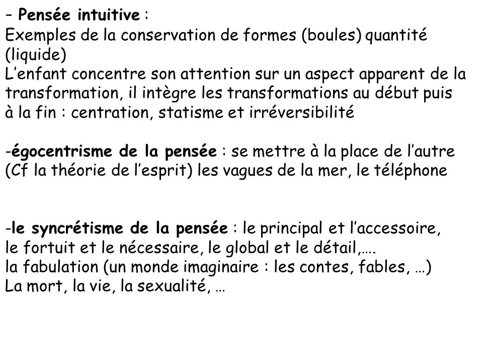 Développement cognitif à partir du modèle Piagétien - Accommodation, assimilation - Stades de développement A 2-3 ans lenfant sort de la période de li