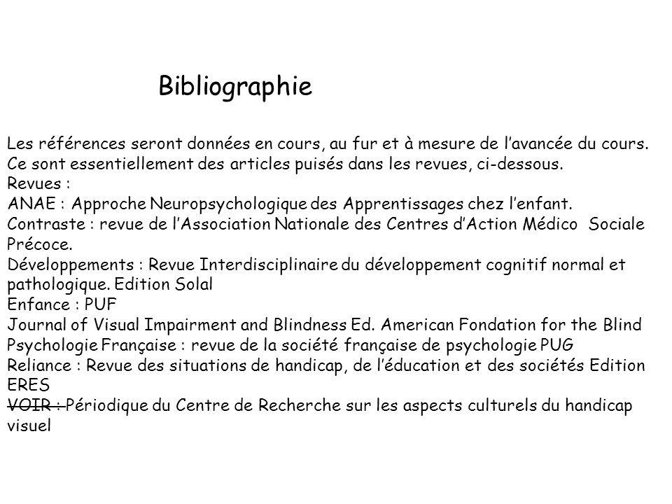 Bibliographie Les références seront données en cours, au fur et à mesure de lavancée du cours.