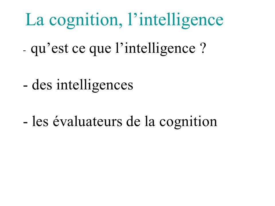 Précocité de lintelligence ?