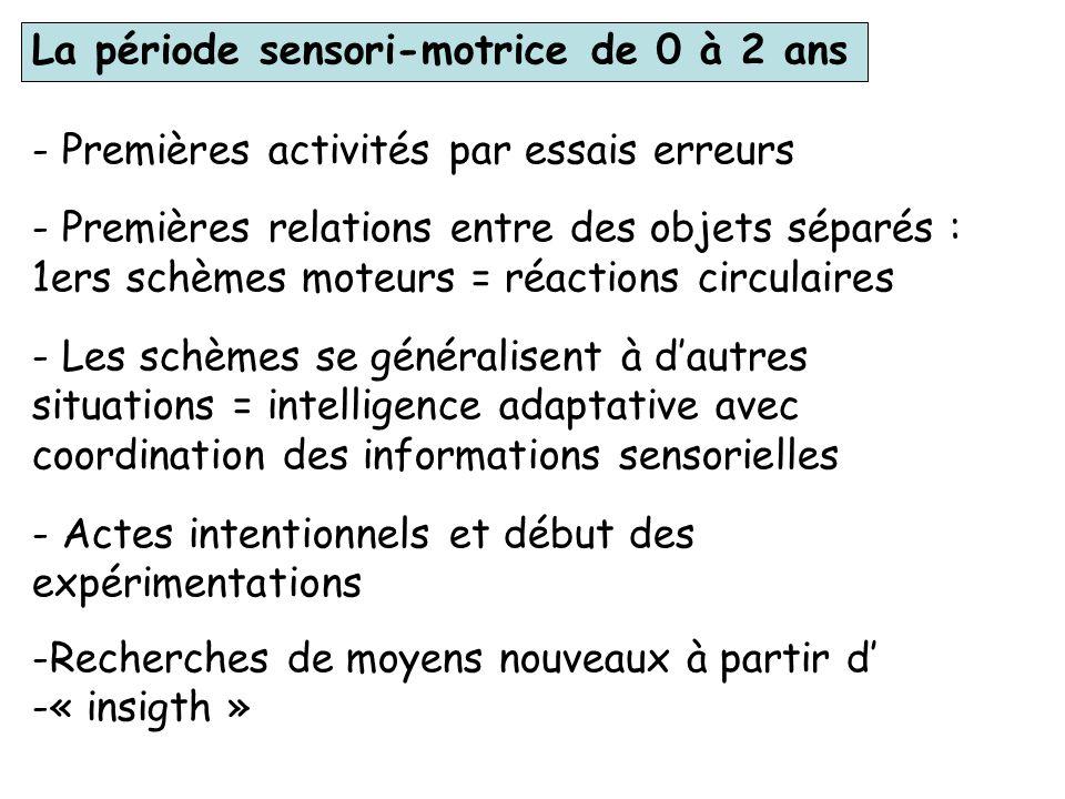 Le développement intellectuel selon la théorie de Piaget Le modèle piagétien : assimilation, accommodation De la naissance à ladolescence, lintelligen