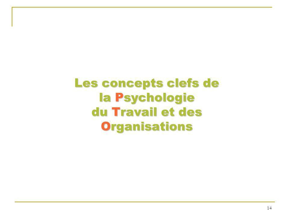 Les concepts clefs de la Psychologie du Travail et des Organisations 14