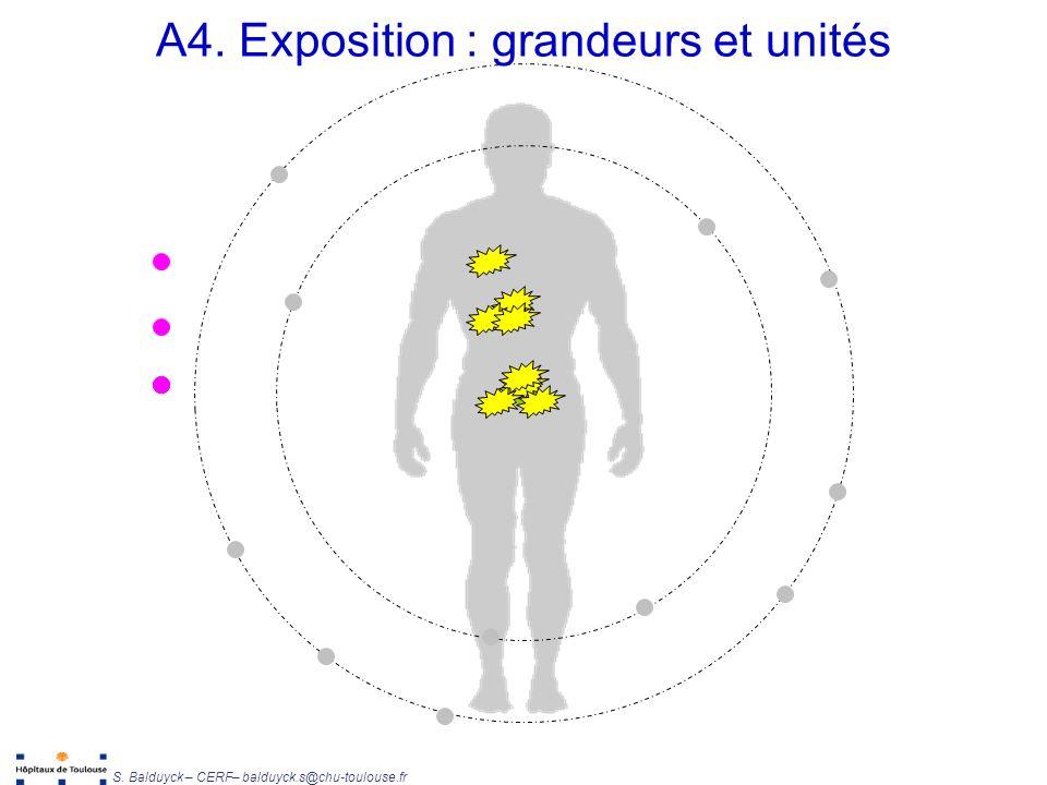 Unité de Radiophysique et Radioprotection S.Balduyck – CERF– balduyck.s@chu-toulouse.fr A4.