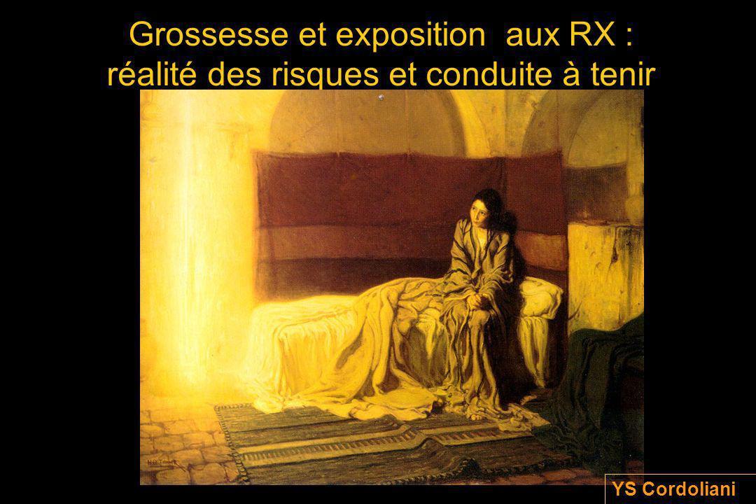 Grossesse et exposition aux RX : réalité des risques et conduite à tenir YS Cordoliani