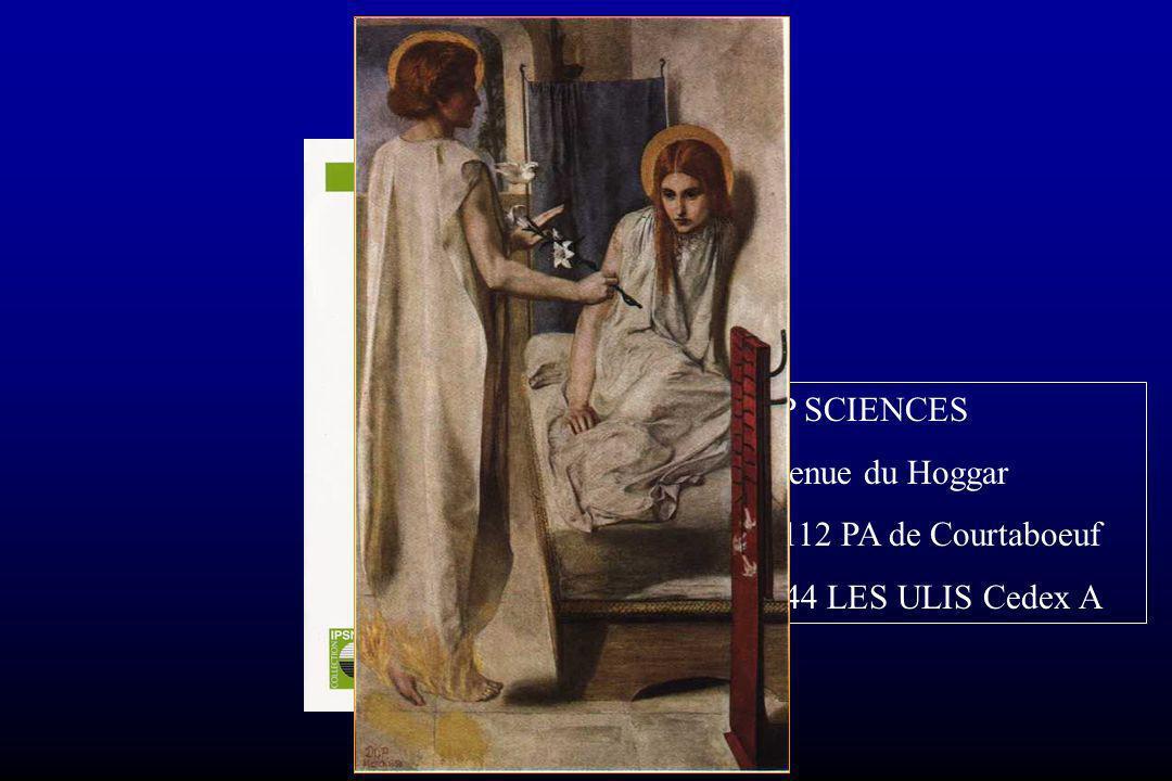Conclusion EDP SCIENCES 7 avenue du Hoggar BP 112 PA de Courtaboeuf 91944 LES ULIS Cedex A