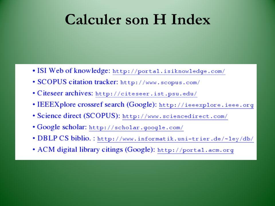 Calculer son H Index