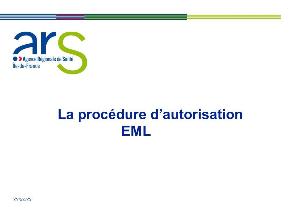 XX/XX/XX La procédure dautorisation EML