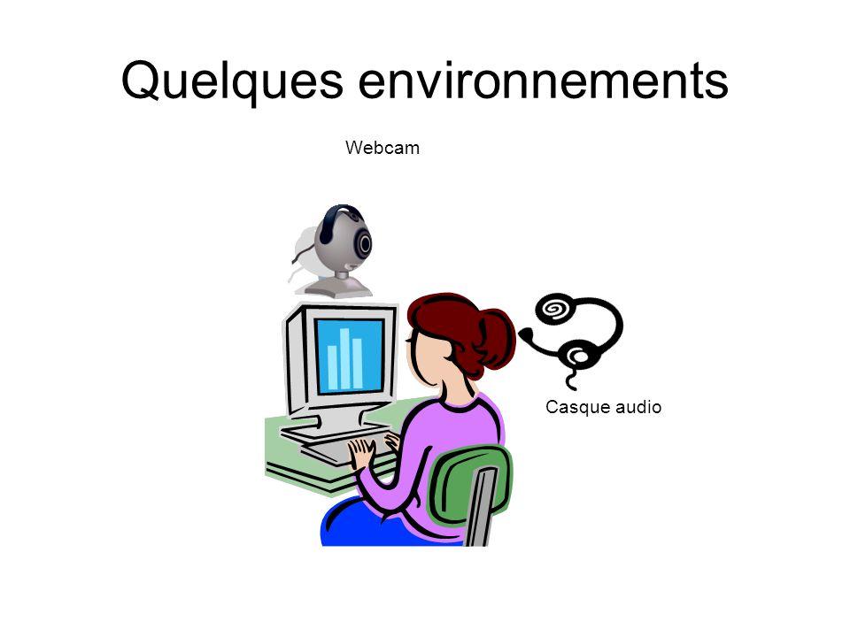 Quelques environnements Webcam Casque audio