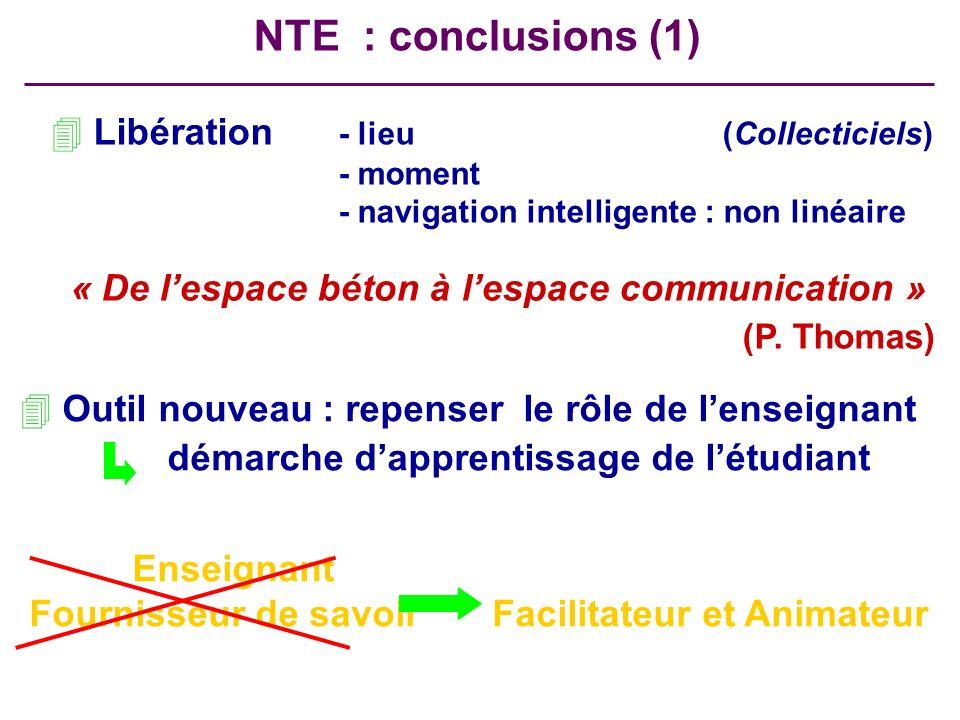 4 Libération - lieu(Collecticiels) - moment - navigation intelligente : non linéaire « De lespace béton à lespace communication » (P. Thomas) NTE : co