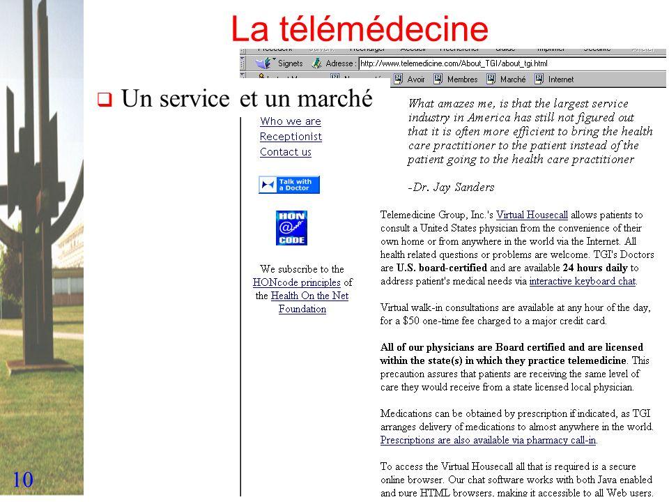 10 La télémédecine Un service et un marché