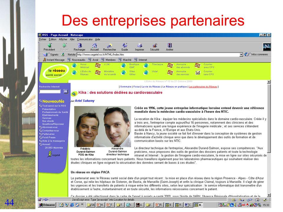 44 Des entreprises partenaires Y compris en Lorraine