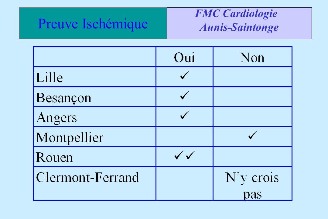 Preuve Ischémique FMC Cardiologie Aunis-Saintonge