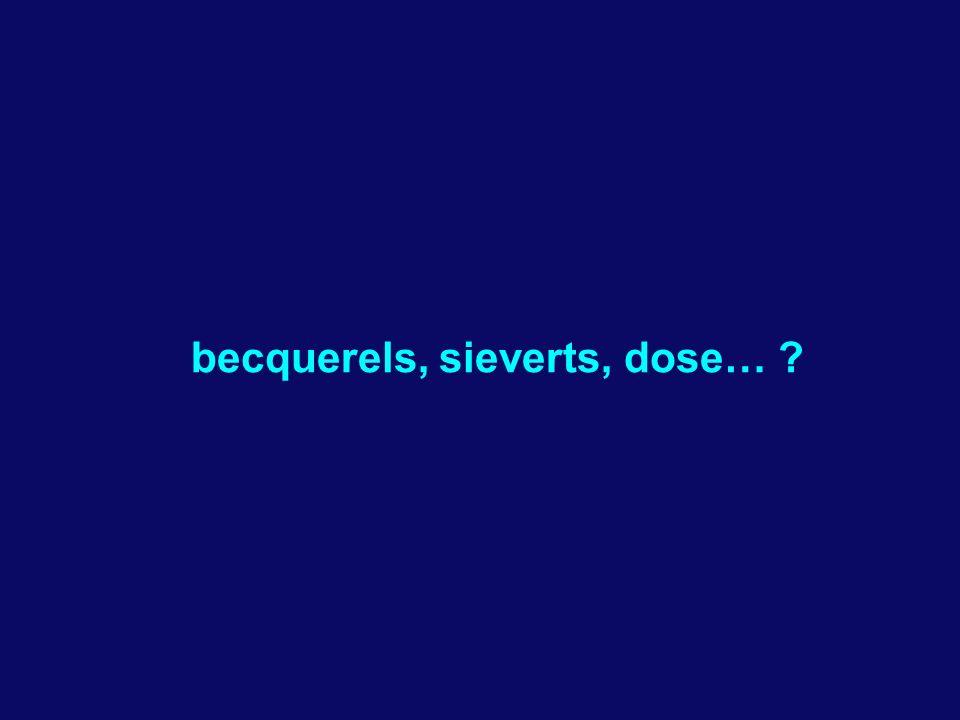 becquerels, sieverts, dose… ?