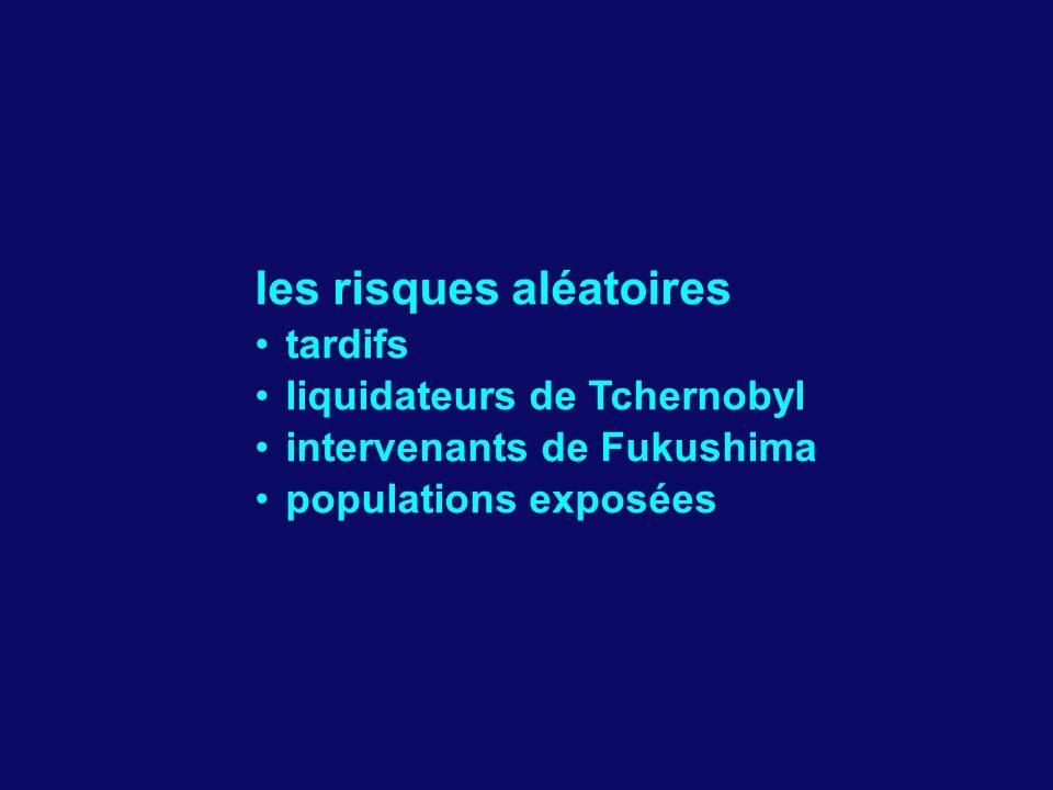 les risques aléatoires tardifs liquidateurs de Tchernobyl intervenants de Fukushima populations exposées