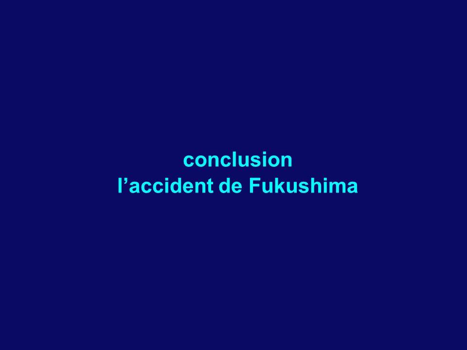 conclusion laccident de Fukushima